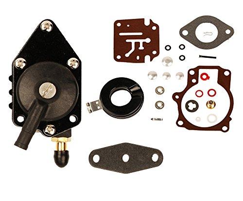 oxoxo Vergaser reair Kit mit Kraftstoff Pumpe für Johnson Evinrude (202528304548505560HP ersetzen 396701392061398729