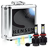Kensun New Technology All-in-One LED Headlight Conversion Kit (from HID or Halogen) with Cree Bulbs - H8 (H11) - 30W 3000LM x2-2 Year Full Warranty