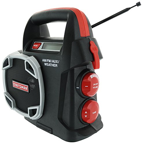 Craftsman 315.101260 19.2 Volt Am / FM / Auxiliary Weather Radio (Aux Cable Included, Battery Not Included)