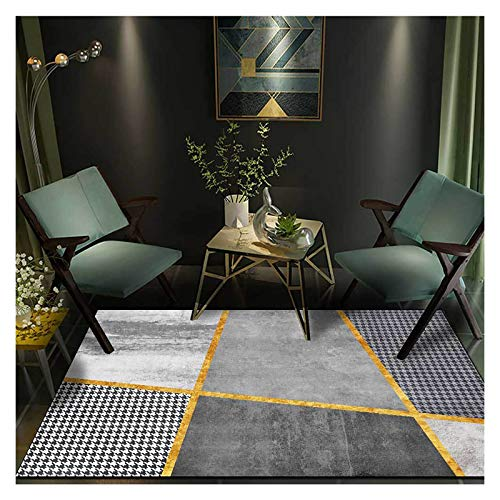 GJCC Modern Area Rugs Geometric Carpets for Living Room Bedroom Dining Kitchen Rugs and Mats Machine Washable,Gray,3