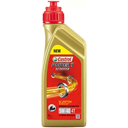 Motorcycle Engine Oil 5 W 40 1 L Castrol Power 1 Scooter 4t 154 F86 Auto