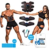 Ab Stimulator-Muscle Stimulator, Weight Loss Fitness Equipment- Rechargeable, Abs Stimulator- Muscle...