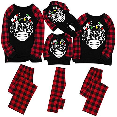 Pyjama für Weihnachten, Familie, lang, für Damen, Herren, Kinder, Weihnachtsanzug,...