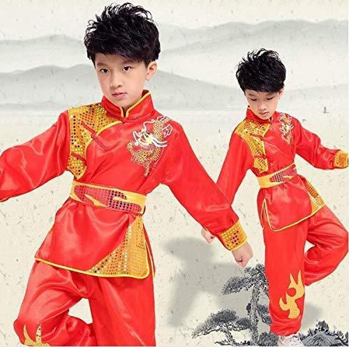 zyl Kampfsportanzüge Kinder Kinder Jungen Langarm Kung Fu Jacke Tang Anzug Trainingskleidung Kleidung mit Outfit Tang Uniform Kampfsportanzüge Chinesische Tai Chi Anzug Set Uniformen