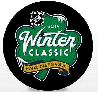 2019 Winter Classic Hockey Puck Blackhawks vs Bruins Souvenir Logo Puck