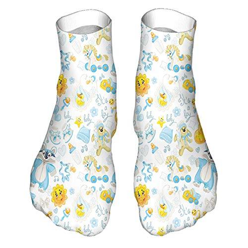 Adecuado para todas las estaciones y uso diario en el hogar y la oficina. Imagen de niño con mapache Happy Sun en pijamas, sombreros azules, impresión doble