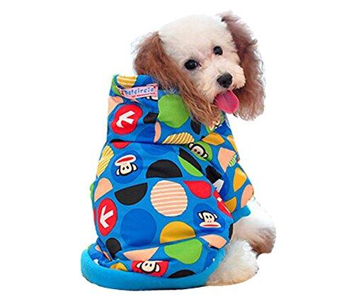 confortable d'hiver pour chien Veste imperméable pour animal domestique Vêtements (Bleu mer, taille : L)