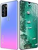 Outskirts P80pro Smartphone SIM Free Smartphone, Fingerprint Face Lock Teléfono de 7.1 Pulgadas 12GB + 512GB 5600MAH Teléfono Barato (Color : Pink)