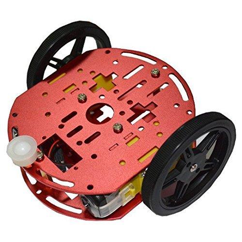 Olimex ROBOT-2WD-KIT2 Feetech FT-DC-002- Veicolo robotico, telaio Arduino, per Crumble Build-Bot, Crumblebot, PicoCon