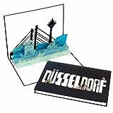"Grußkarte ""Düsseldorf - Panorama"" - 3D Pop Up Karte"