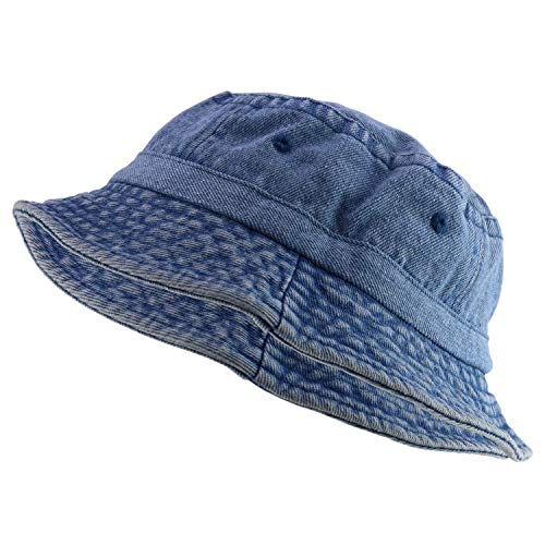 Armycrew Unlimited Pigment Dyed Washed 100% Cotton Unisex Bucket Hat - Denim