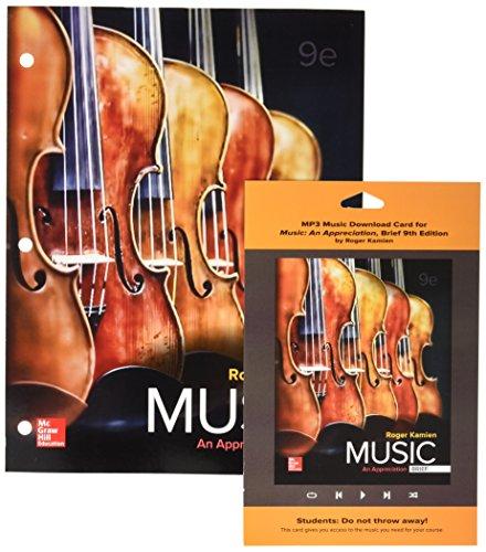 GEN COMBO LOOSELEAF MUSIC; AN APPRECIATION BRIEF; MP3 DOWNLOAD ACCESS CARD