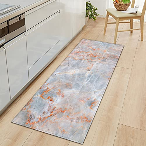 Marmor mattor strip matta, mjuka badrum mattor, sten temat dörrmatta, mattor mattan dörrmatta ingång, område matta för vardagsrum, sovrum (Color : F, Size : 40x120cm)