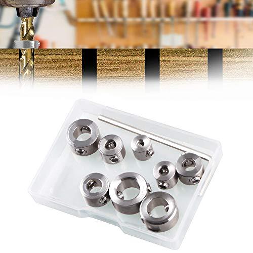 Tiefenanschlagringe Set,BESTZY 8 Stück Tiefenbegrenzer Bohrer Ring Positionierer mit Sechskantschlüssel für Bohrer Holzbearbeitung,3-10mm