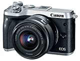 Canon EOS M6 Appareil photo hybride + EF-M 15-45 mm IS STM + EF-M 55-200mm IS STM -...