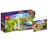 Collectix Lego Set – Coche eléctrico Lego Friends Olivias 41443 + carro de flores Lego Friends 30413 (bolsa de plástico)