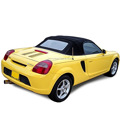 Sierra Auto Tops Convertible Soft Top Replacement, compatible with Toyota MR2 Sypder 2000-2007, Cabrio Vinyl, Black