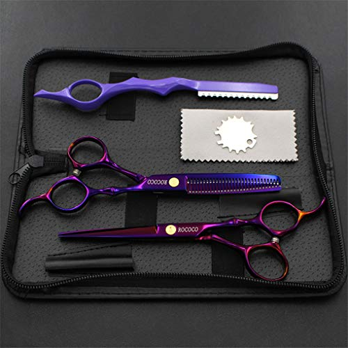 LBYSK Japan Steel 6,0 Pouces de Coupe de Cheveux Coiffure Professionnels Ciseaux de Haute qualité en Acier Inoxydable Durable pour Beau Travail Barber Shop Salon Outils de Coupe