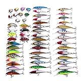 Señuelo de Pesca de Tipo híbrido, señuelo de manivela Artificial Realista, Equipo de Agudos de Aparejos de Pesca para Pesca