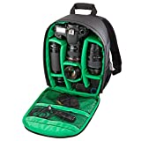 Travel Laptop Backpack, Outdoor Single Lens Digital Camera Bag Wear-Resistant Shoulder Pouch Backpack - Green