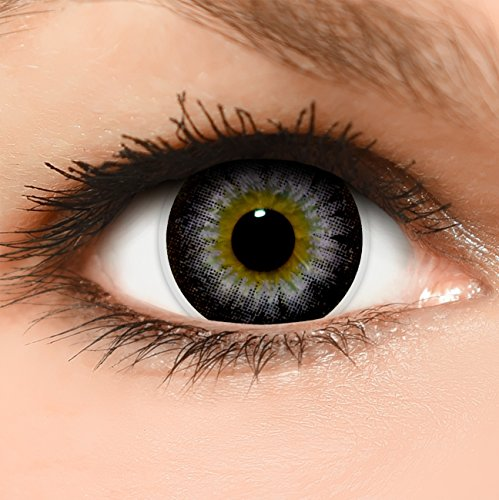 Circle Lenses lilane 'Circle Violet' farbig ohne und mit Stärke + Behälter 14,50mm farbige Kontaktlinsen