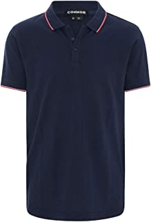 Connor Men's Kingsley Polo Regular Collared Casual Tops Sizes XS-3XL Affordable Quality with Great Value