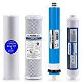 Smart Pack Water Filters Reverse Osmosis Replacement Filter Set RO Cartridges 4 Stage w/ 50 GPD Membrane