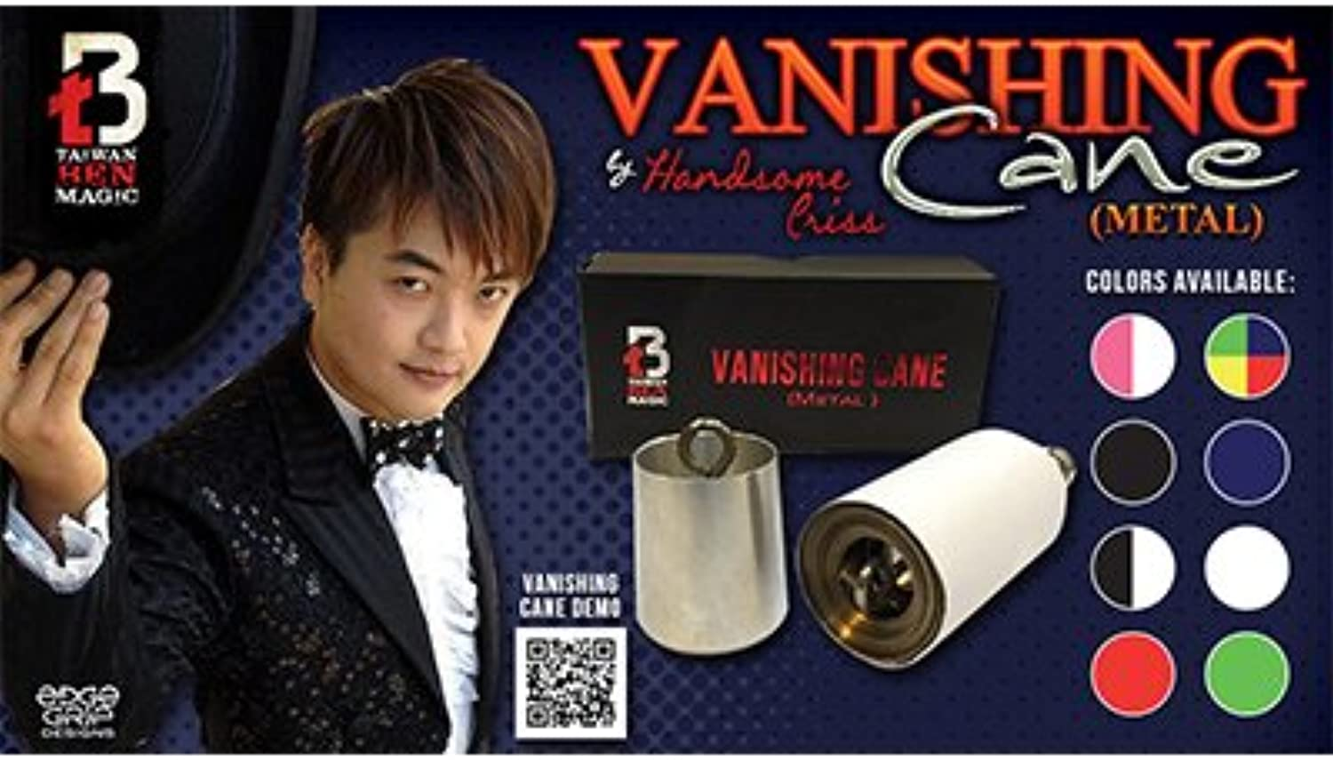 Murphys Vanishing Cane (Metal   Red) by Handsome Criss and Taiwan Ben Magic  Tricks