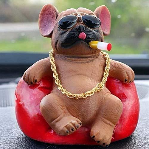 WSWJ Suministros de Decoración Auto Adornos Dominante del Coche del sofá del Perro el Mini Consola del salpicadero Decoración Animal Interior del Coche Accesorios (Color : Brown)