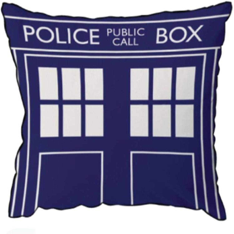 Lady Sandra Doctor Who Tardis 16 x16  Square Cushion