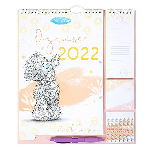 Me to You,White,XCC01005 Household Planner 2022 with Family Calendar, Stickers, Shopping/Things to Do List & Sticky Notes