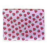 Wildflower 13-Inch Laptop Sleeve Clutch Bag (Strawberry)