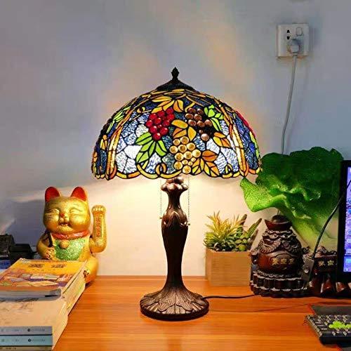 Lámpara de mesa Tiffany de Yuki de 40 cm de la base...