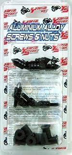 Yana Shiki YNSKWS1138 Black Spiked Style Universal Fit Windscreen Screw Kit