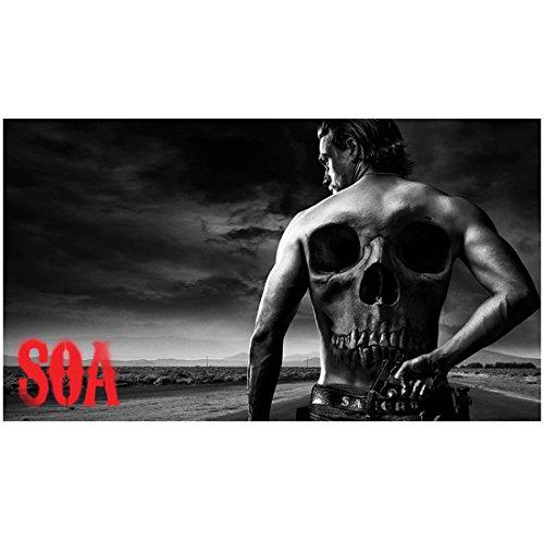 Sons of Anarchy Charlie Hunnam as Jackson 'Jax' Teller Shirtless Skeleton on Back SOA 8 x 10 Photo