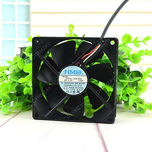 CYRMZAY Compatible for NMB 3610KL-05W-B59 92 * 92 * 25MM 24V 0.20A 9CM 3Pin Cooling Ventilador