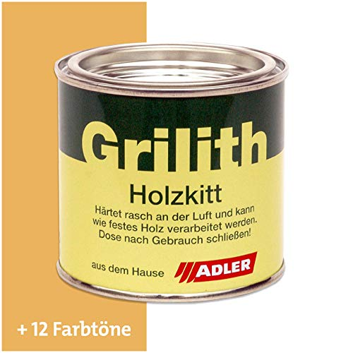 ADLER Grilith Holzkitt Spachtelmasse Kitt für Holz Möbel Basteln Reparieren Kiefer 200 ml