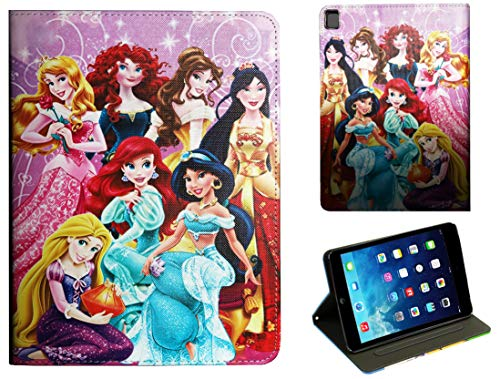 For Apple iPad Pro 9.7 / iPad Pro 9.7'' / iPad 9.7 / iPad Air 1 2 Aladdin Jasmin Mulan Ariel Cinderella Aurora Belle Rapunzel Disney Cartoon Smart Case Cover