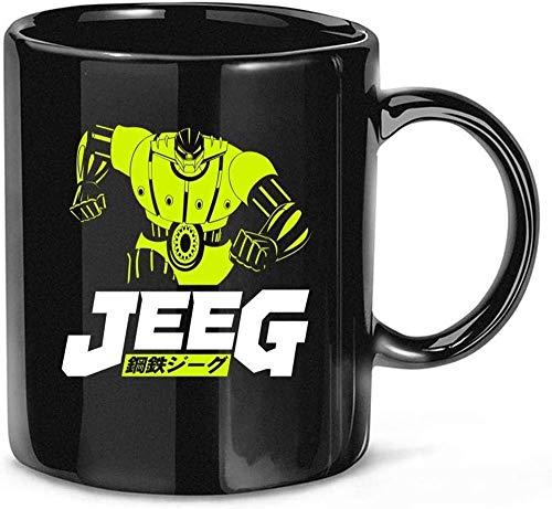 N\A Classic Mecha Anime Koutetsu Steel Jeeg Robots Café Té Tazas de cerámica Tazas 11 oz