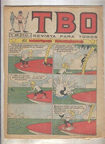 TBO numero 409: El naufrago hambriento (Urda), (numerado 3 en trasera)