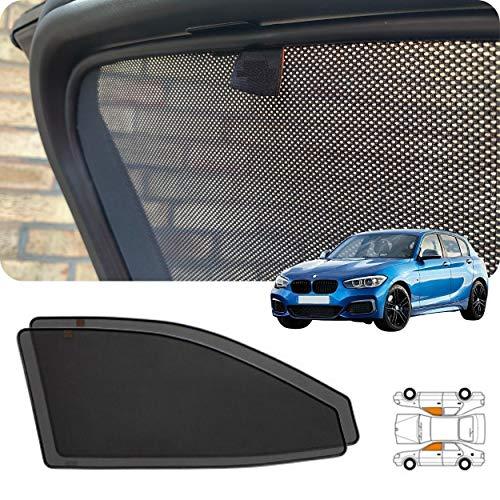 Juego de 2 persianas magnéticas para ventana lateral frontal de coche para BMW1 F20 5 puertas Hatchback alternativas para ventanas de coche de automóviles de tintado