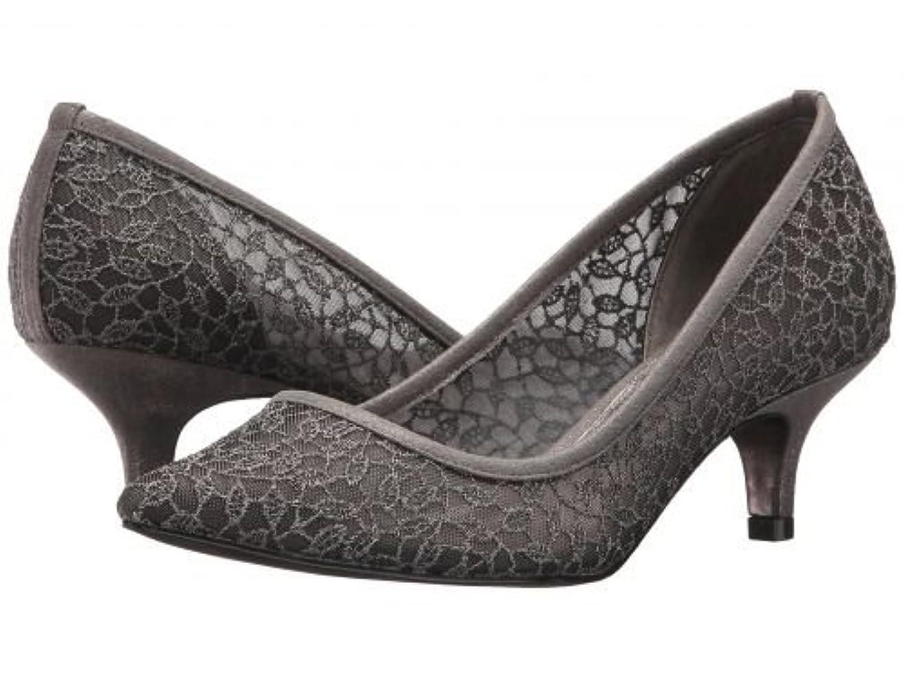 ミルクなぜなら冷淡なAdrianna Papell(アドリアナパペル) レディース 女性用 シューズ 靴 ヒール アンクル Lois Lace - Gunmetal Valencia Lace 9.5 M [並行輸入品]