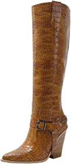 Melady Classic Women Western Boots Knee High