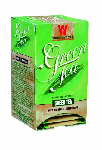 Luxury Wissotzky New popularity Green Tea with Boxes Lemongrass Ginger 1.06-Ounce