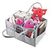 Pingxia Baby Wickeltasche Grau Multifunktionale Windel Tasche Unisex Wickel Taschen Modern mit Wandelbare Klett Fächer