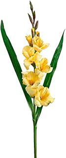 Floral Home Silk Gladiolus Spray in Yellow - 33