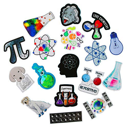 SBOBUY 50 PCS Science Chemistry lab Astronaut Stickers Blockchain Code Brain Scientists Funny Stickers for Child Gift Decor Luggage
