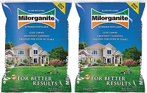 Milorganite 0636 Organic Nitrogen Fertilizer, 32-Pound (Pack of 2)