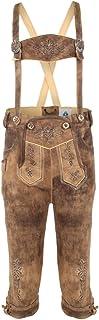 Isar Trachten Lukas - Pantalones de piel para niño, color roble