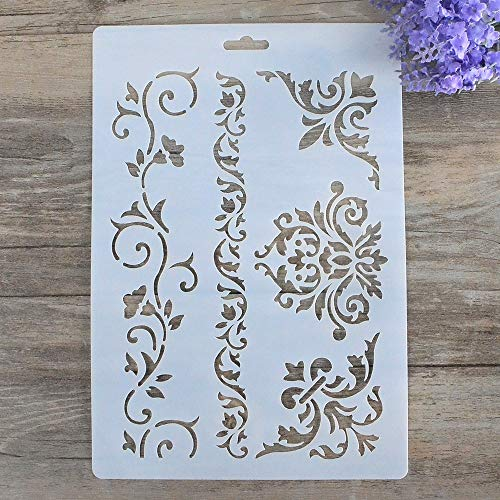DIY Decorative Stencil Template for Painting on Walls Furniture Crafts
